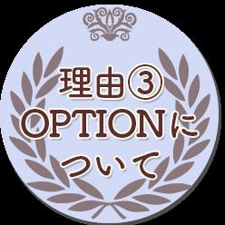 理由③・OPTIONについて